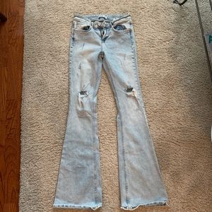 Zara Distressed Flared Jeans
